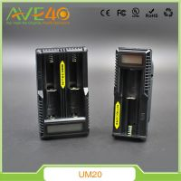 Newest Original Nitecore UM20 USB LCD Display Ecig Chargers Compatible with 18350 18650 18490 Batteries