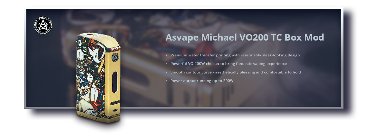 Asvape Michael VO200 TC Box Mod