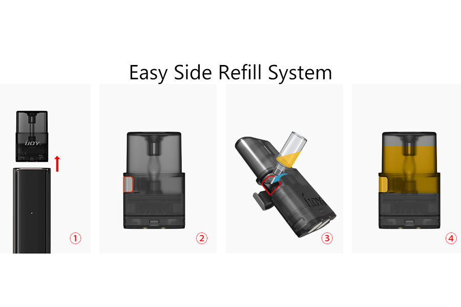 Features of IJOY LUNA Pod System Kit 350mAh