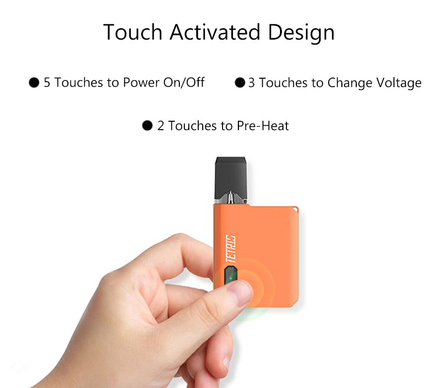 Features of Pomp Tetris Pod System Kit 400mAh