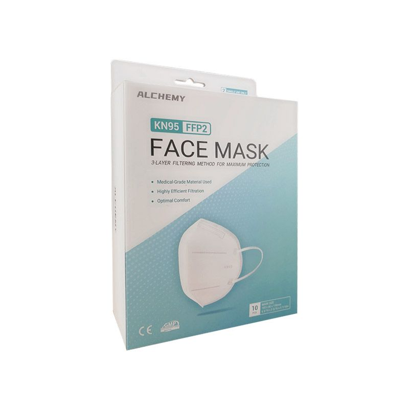 Alchemy KN95 FFP2 Anti Bacterial Respirator Face Mask